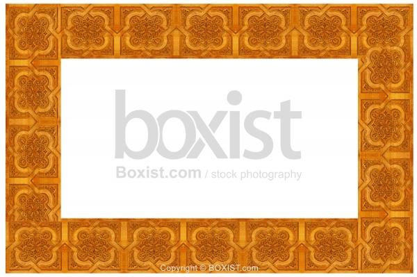 Frame Made of Carved Wooden Arabesque Patterns