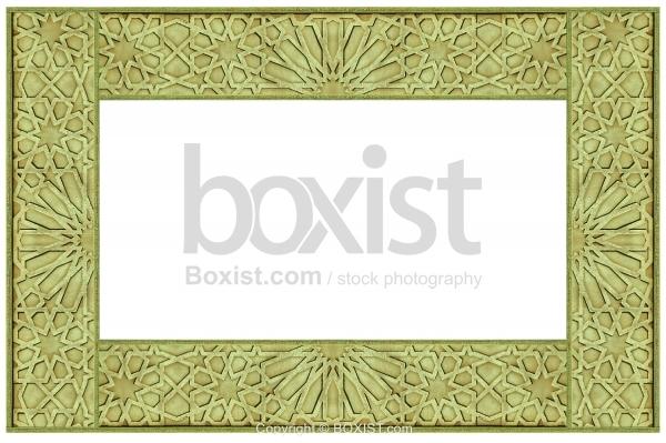 Framed Arabesque Patterns Carved In Metal