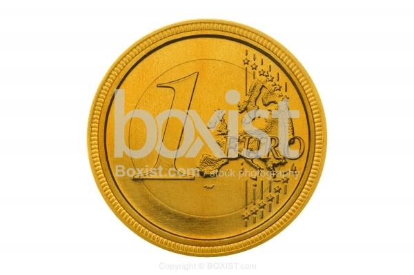 Golden One Euro Coin