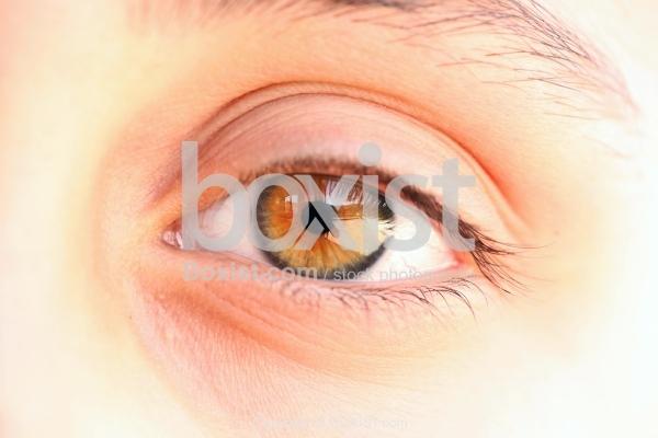 Macro Closeup Of Young Girls Colored Eye