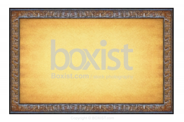 Old Paper Background With Decorative Wooden Frame