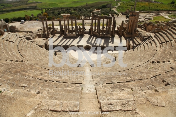 Roman Theatre Of Dougga From The Top