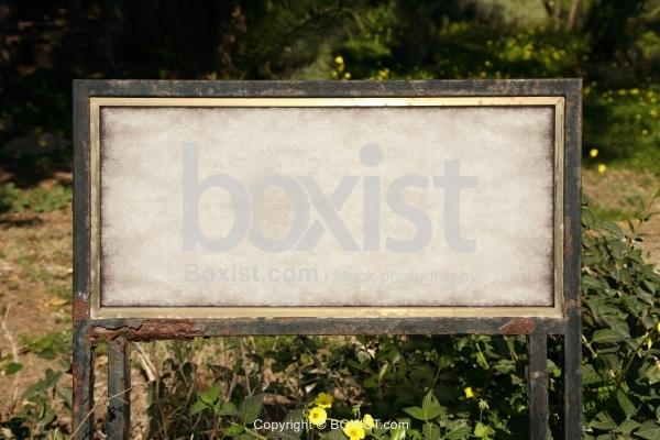 Rusty Blank Sign