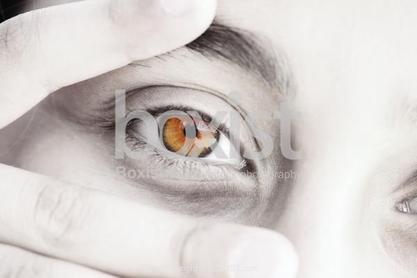 Young Girl Colored Eye