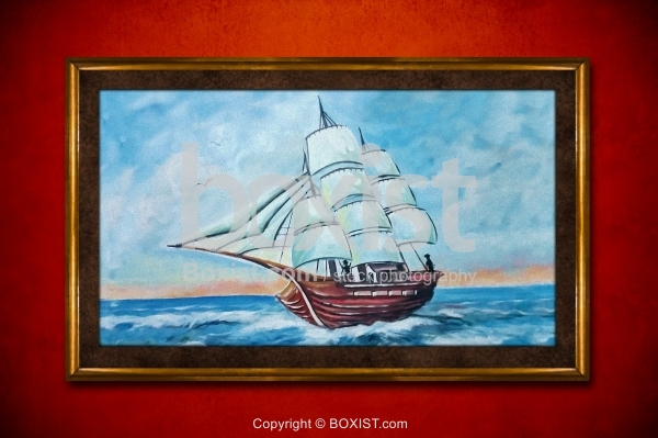 Sailing Ship In The Sea Painting