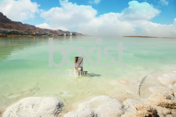Salty Shores Of The Dead Sea