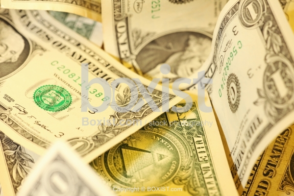 Selective Focus On Different Series Of One Dollar Banknotes