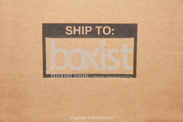 Ship To Printed On Cardboard