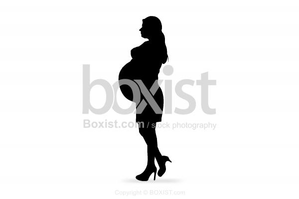 Silhouette Of Pregnant Women