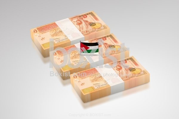 Stack Of Jordanian Money Dinars