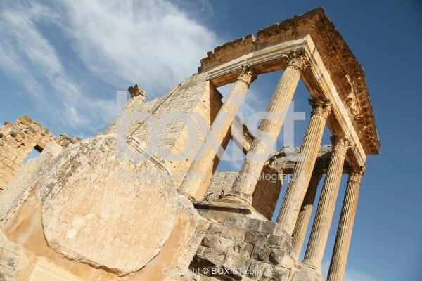 Dougga Capitol Building In Tunisia