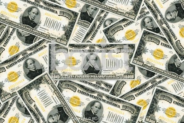 Ten Thousand Dollar Money With Salmon Chase Portrait