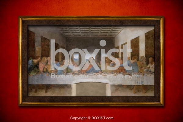 The Last Supper Painting Framed Painting