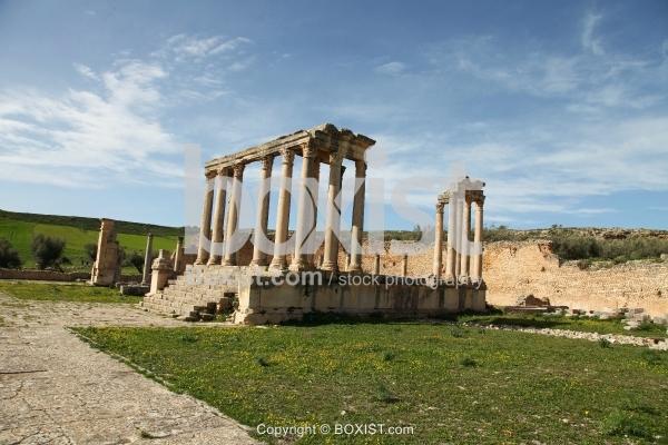 The Temple Of Juno Caelestis At Dougga
