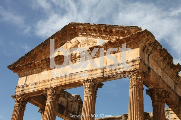 Top View of the Capitoline Temple at Dougga in Tunisia