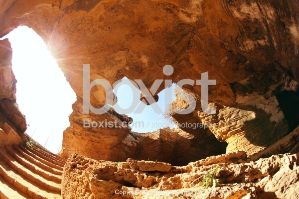 Under the Cave of Ghar El Kebir in Tunisia
