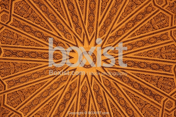 Ceiling With Circular Geometric Patterns