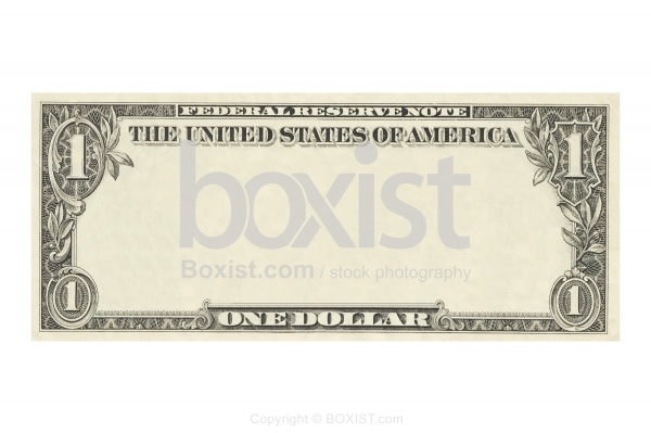 Clear One Dollar Banknote
