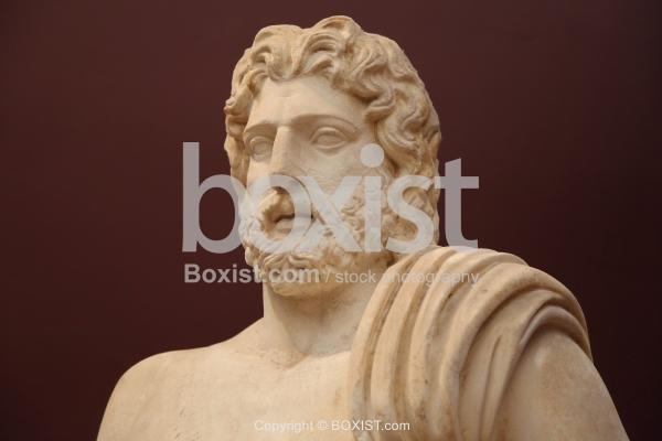 Early Roman Statue Of Poseidon