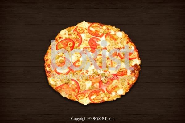 Freshly Baked Vegetarian Pizza