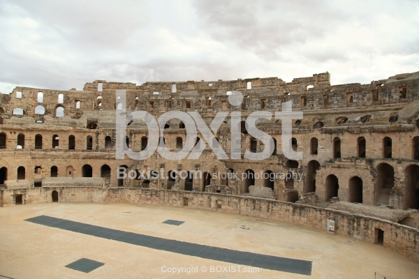View From Inside El Djem Coliseum