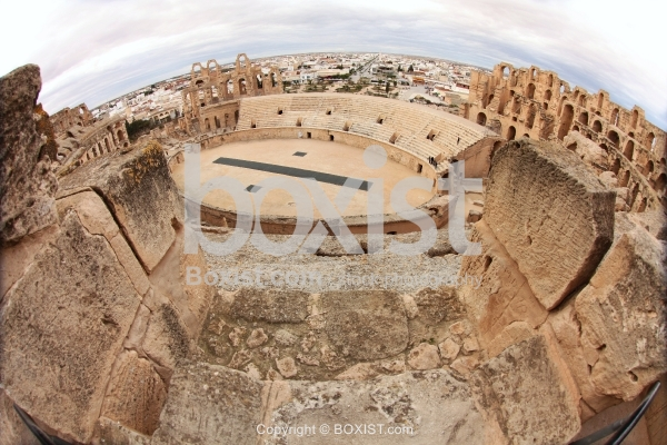 View from the Top of El Djem Colosseum