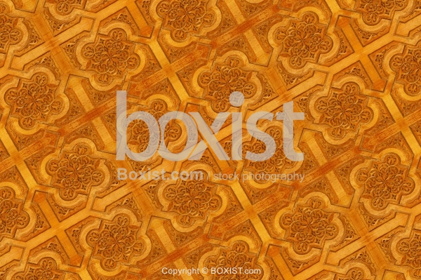Carved Arabesque Patterns On Wood