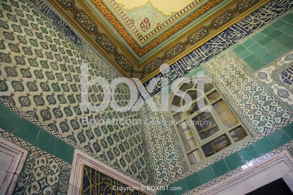 Walls And Ceilings Decoration Inside Topkapi Palace in Istanbul