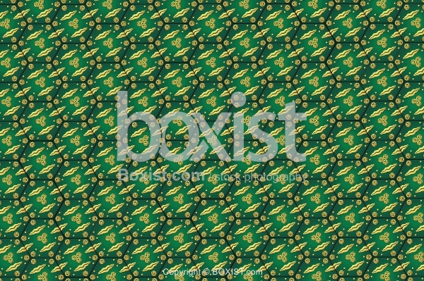 Gold And Green Tiles Pattern Texture