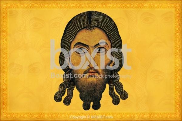 Painting Portrait Of Christ Acheiropoietos