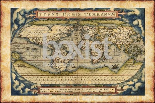 Typvs Orbis Terrarvm By Abraham Ortelius