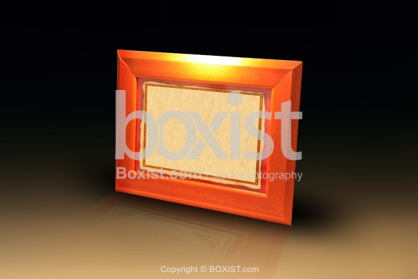Wood Picture Frame With Blank Paper