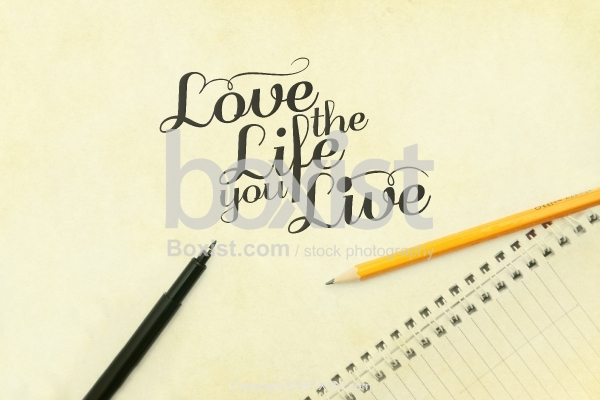 Writing Quote In English Script On Paper