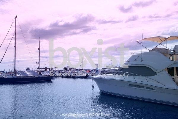Yachts In Harbour With Beautiful Sky View