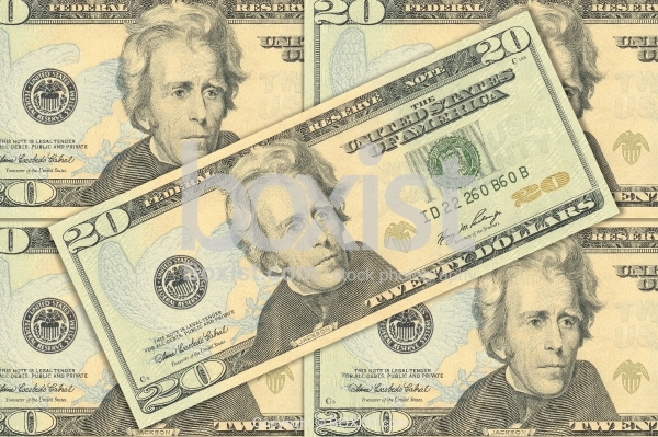 Notes Of Twenty US Dollars