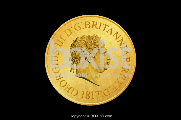Design Of King George III On 1817 Gold Coin