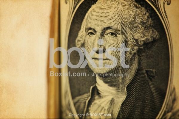 George Washington Portrait On One Dollar Bill