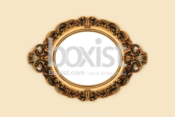 Oval Wooden Vintage Decorative Frame