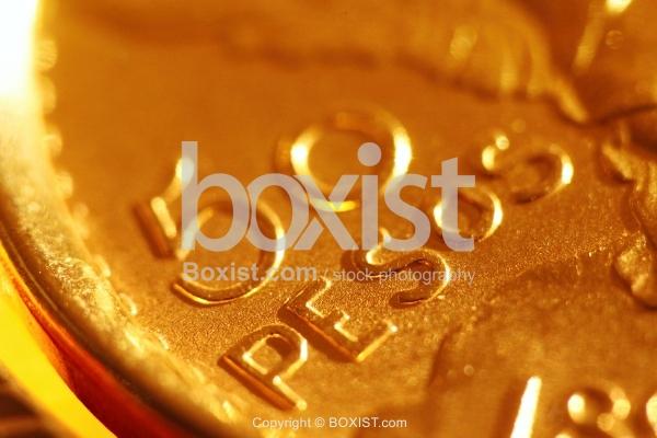 Closeup of 50 Gold Pesos