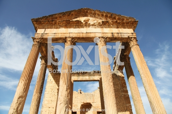 Ancient Roman Capitol at Dougga