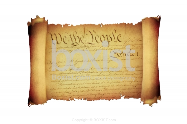 We The People United States Constitution On Scroll Paper