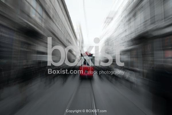 Taksim Tunnel Tram in Istanbul City
