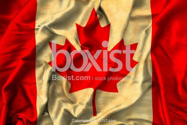 Old Grunge Canadian Flag