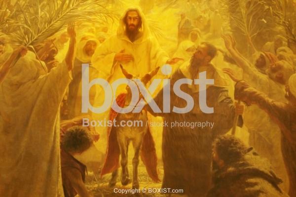 Jesus Rides On A Donkey.
