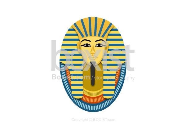 Mask Of The Egyptian Pharaoh Vector Art