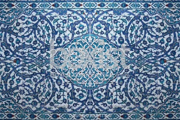 Handmade Iznik Arabesque Tiles At Topkapi Palace