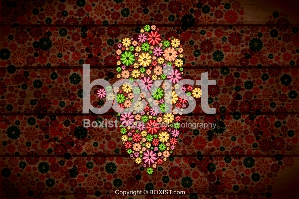 Hamsa Hand Made With Flowers