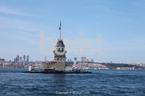 Maiden's Tower With European Side In The Background