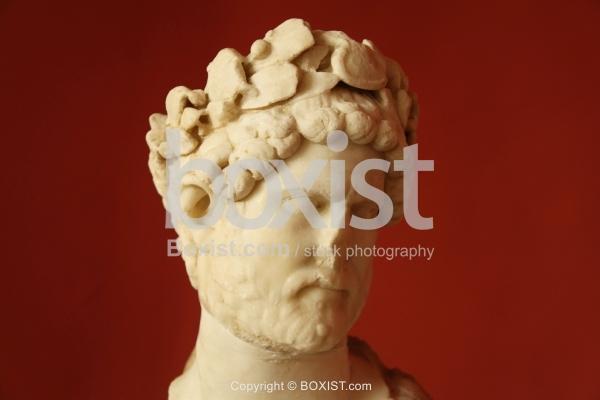 Torso Portrait Of Emperor Hadrian White Marble