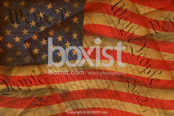 The American Flag and Constitution Background
